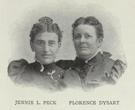 Jennie L Peck and Florence Dysart