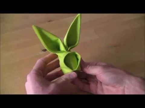 Zeka od salvete - Origami zec - YouTube