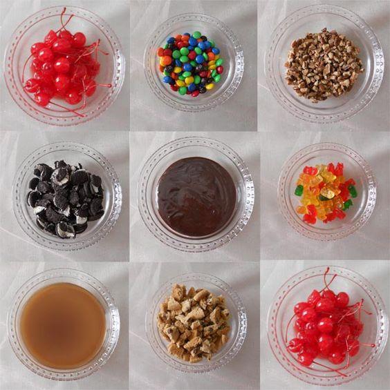 Ice Cream Sundae Bar Toppings   Oscar Party 2012 ...