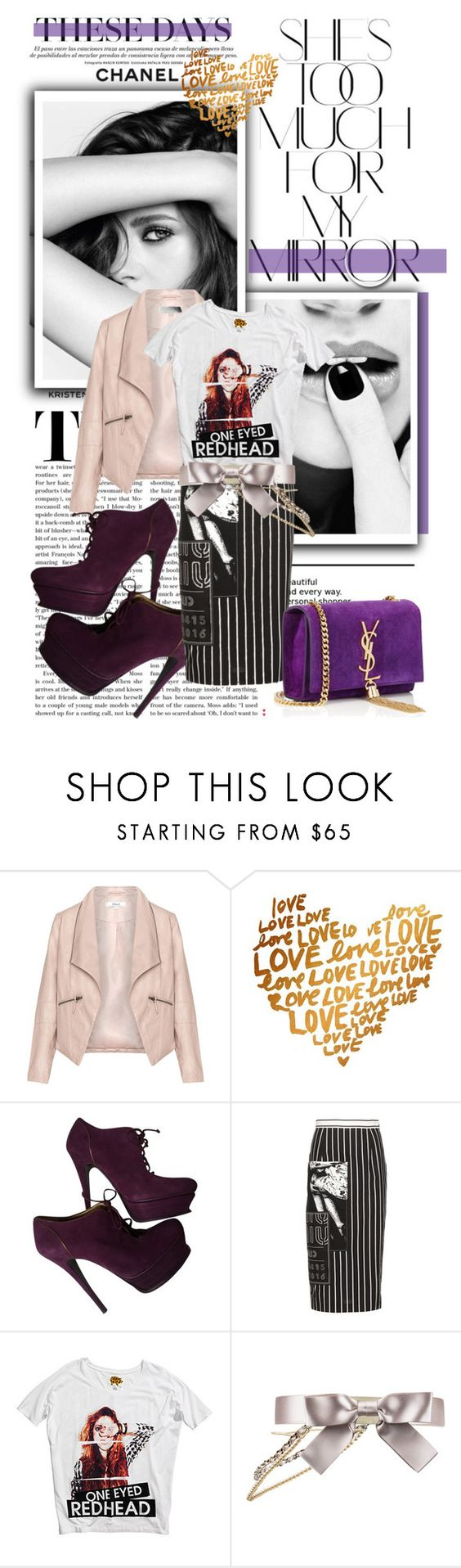 """""""Kristen Stewart"""" by thestrawberryfields ❤ liked on Polyvore featuring Rika, Chanel, Zizzi, Yves Saint Laurent, Miu Miu and H&M"""