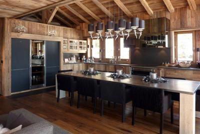 Cuisines - WOOD CONCEPT MEGEVE - CHALETS VIEUX BOIS   Case ...