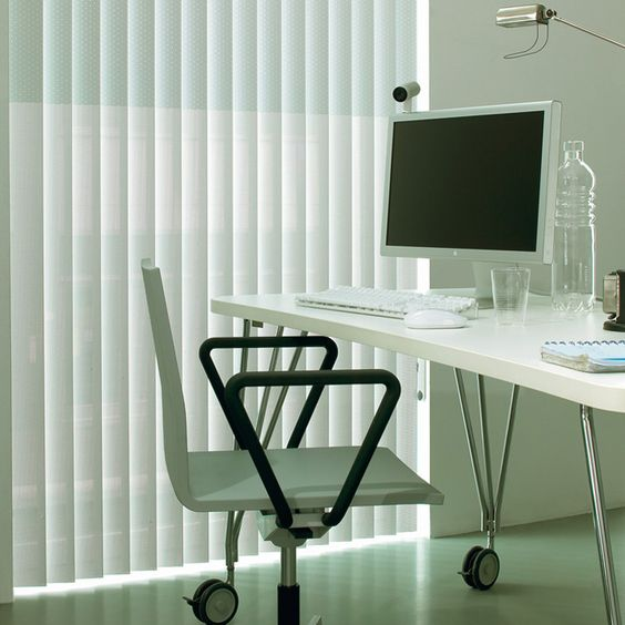luxaflex vertical blinds elegant simplicity for this large home office window home decor blinds luxaflex office