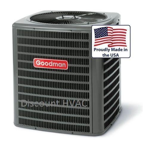 2 5 Ton 14 Seer Heat Pump Goodman Central Ac Unit Gsz140301 Condenser R410a Central Air Conditioners Central Air Conditioning Hvac Air Conditioning