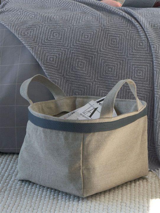 porte revues en lin ficelle couture sacs pochettes etc pinterest. Black Bedroom Furniture Sets. Home Design Ideas