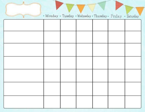 Cute printable chore chart.