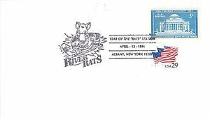 """Albany River Rats 1996 Albany NY """"Year of the Rats Station"""" Event Cover in Stamps, United States, Covers, Event Covers, Other US Event Stamp Covers   eBay"""