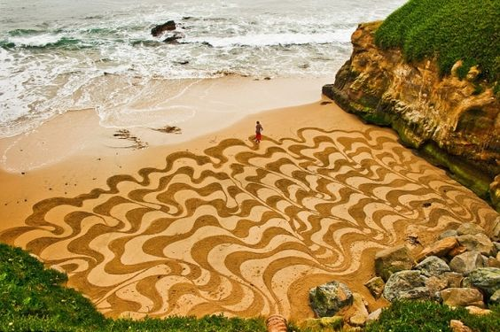 Giant Beach Art By Andres Amador
