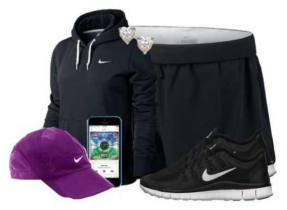 """#417"" by ashleyxoxo-118 ❤ liked on Polyvore featuring NIKE and Topshop"