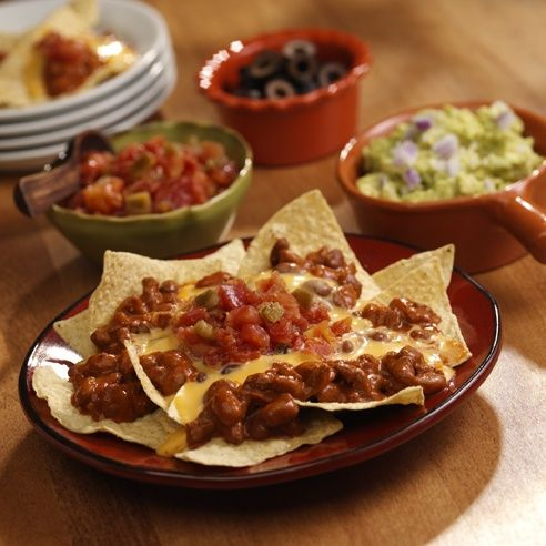 Zesty nachos with a hearty flavor big enough to be a meal    INGREDIENTS        1 can (15 oz each) Wolf