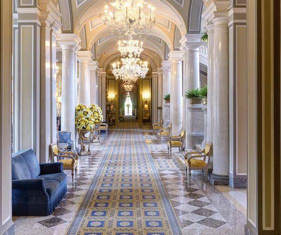 Elegant hall way in Villa D'este, Italy #Collection26