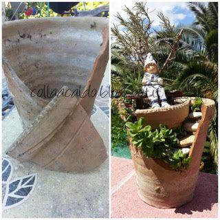 collaacaldo: Riciclo creativo di un vaso rotto