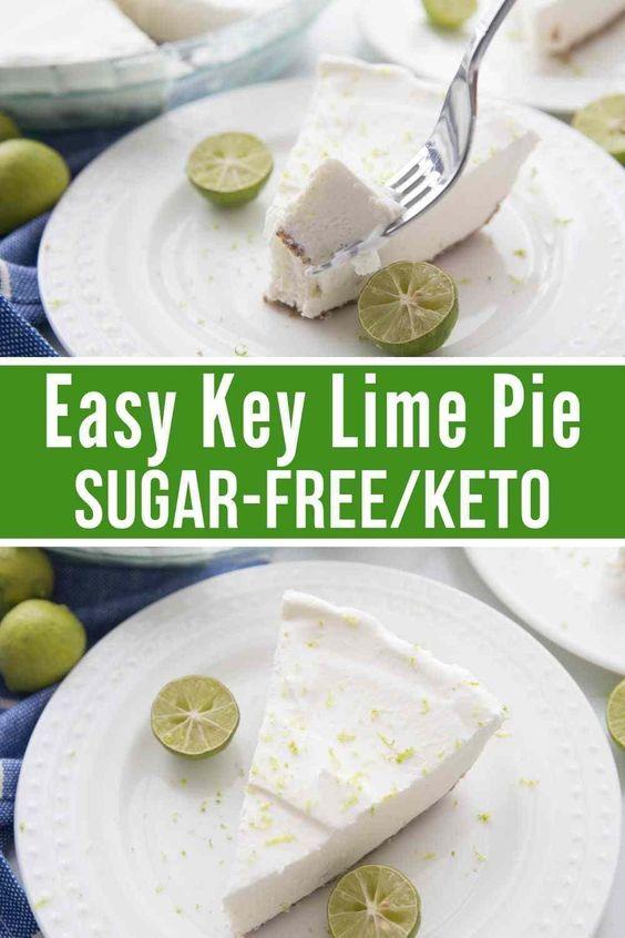 Easy Sugar-free Keto Key Lime Pie
