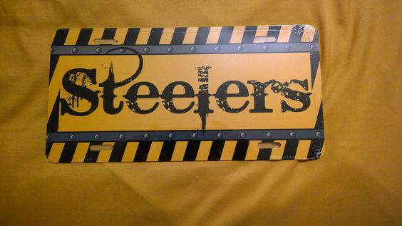 PITTSBURGH STEELERS LICENSE PLATE #PITTSBURGHSTEELERSLICENSEPLATE #PittsburghSteelers
