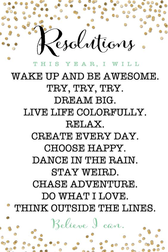 Free Printable New Years Resolution Motivators:
