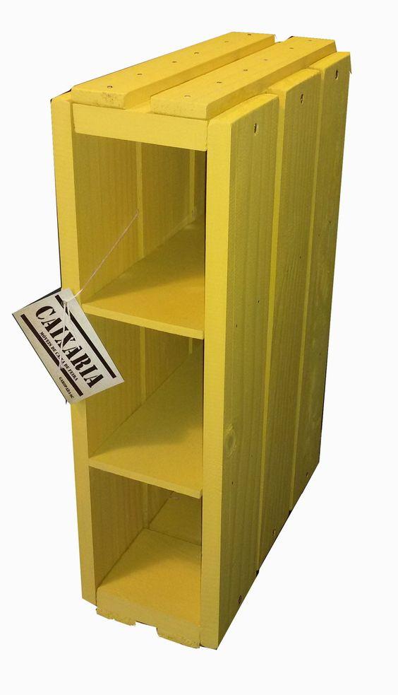 Linda caixa multiuso com 3 divisórias em madeira de Pinus. Você pode usar ela na posição vertical ou horizontal. Ideal para organizar, decorar seu ambiente! <br> <br>Veja as opções de cores no link mostruário logo a baixo!