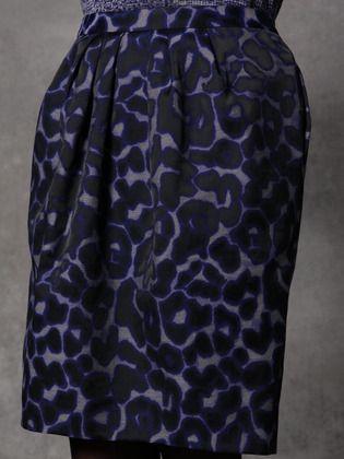 Peter Som leopard print pencil skirt