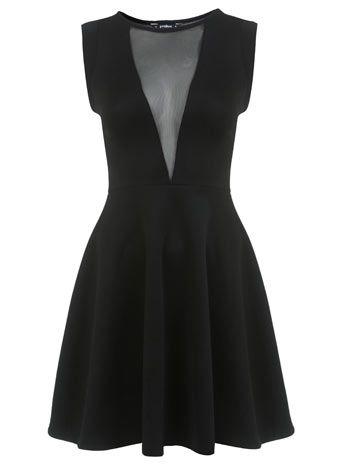 Petites tailles : robe combinaison à V en maille filet