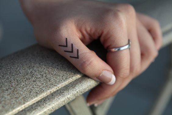 Chevron 5 Small  Spirit Ink Temporary Tattoo by SpiritInk on Etsy, $4.99
