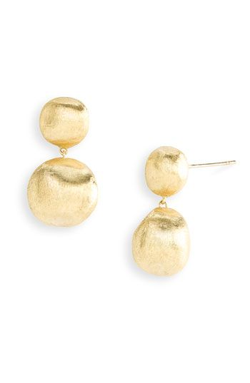 Marco Bicego 'Africa Gold' Double Drop Earrings available at #Nordstrom