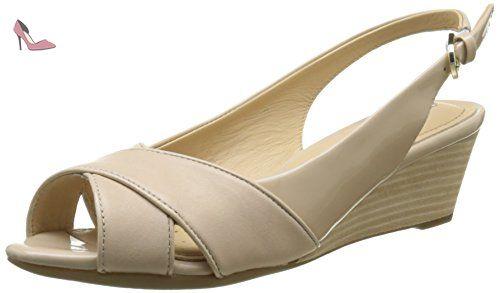 Sandalen-Damen, Chaussures Compensées Femme, Taupe, 40 EUBelmondo