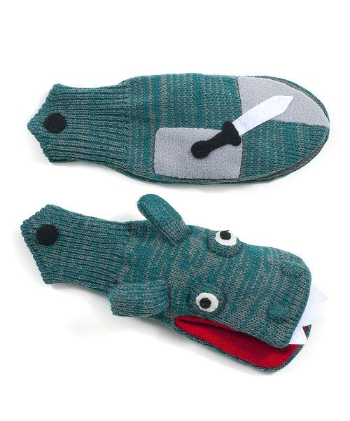 Take a look at the Kidorable Green Knight Mittens on #zulily today!