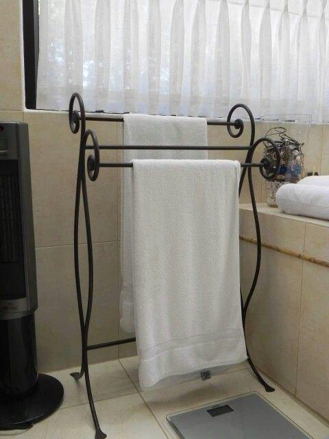 Toallero hierro forjado  toallero  Pinterest