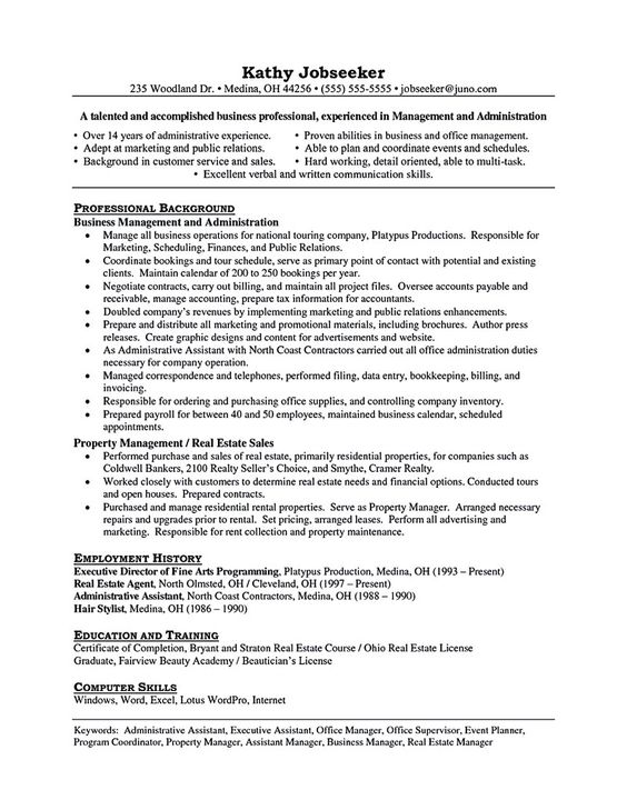 One of the most challenging parts in seeking a job is making a - commercial real estate agent sample resume