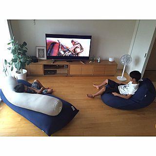 リビング Yogibo ヨギボー ベンガレンシス テレビボード などのインテリア実例 2016 09 20 09 06 37 Roomclip ルームクリップ ソファーなし リビング ソファなしリビング ヨギボー