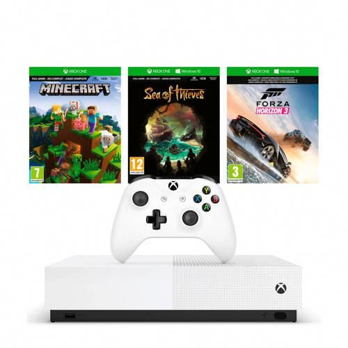 Xbox One S All Digital Edition Console Minecraft Sea Of Thieves En And Forza Horizon 3 Bundel Xbox One Xbox One S Xbox One Forza Horizon