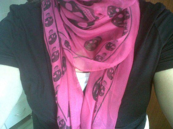 My new Alexander McQueen chiffon skull scarf. I'm a tad obsessed.