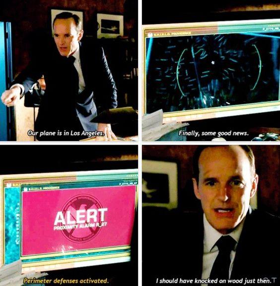 Hahaha love Coulson (: Agents of Shield