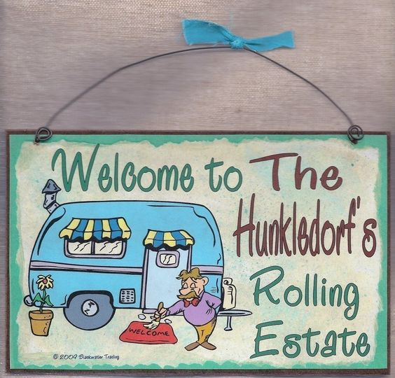 FUNNY RV CAMPING SIGNS | PERSONALIZED Camper Camping RV Trailer by blackwatertradingco