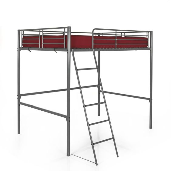 mezzanine lit en hauteur pour 2 140x200cm gris tonny mezzanines et lits - Mezzanine Chambre Hauteur