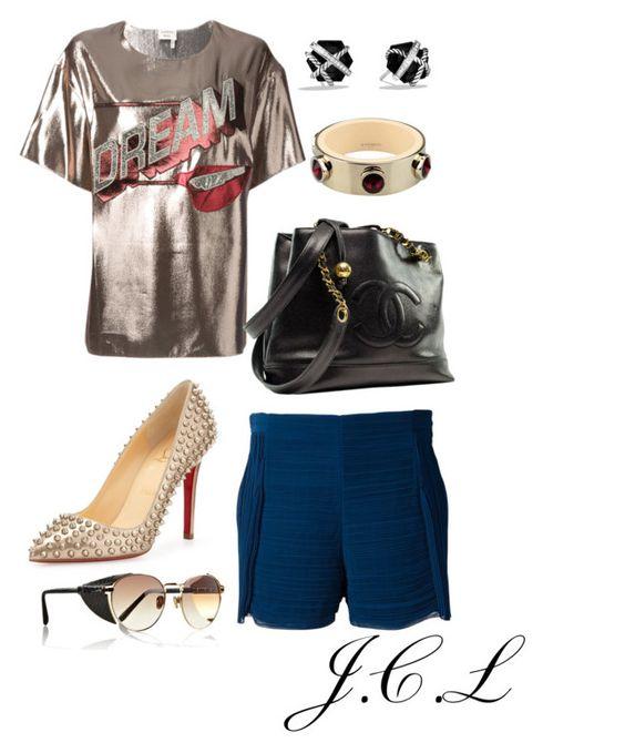 """Chloe Shorts"" by dame-j ❤ liked on Polyvore featuring Lanvin, Chloé, Christian Louboutin, Chanel, Givenchy, David Yurman and Linda Farrow"
