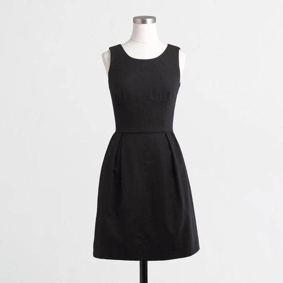 17 Dresses and Jumpsuits You Can Wear to Funerals Without Feeling Judged  J.Crew Factory Pleated shift dress in Wool Flannel ($108)