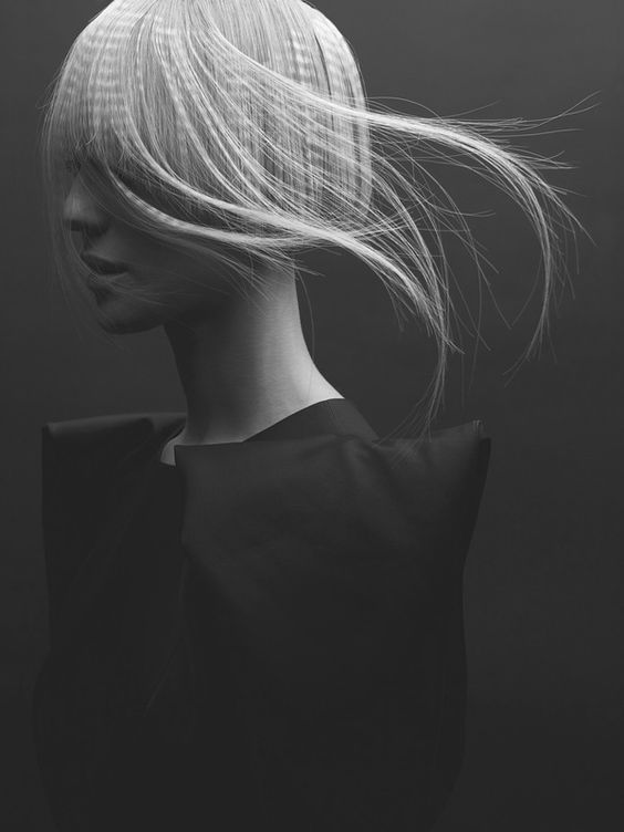 Hair - Sway - Black and White - Fashion - Photography - Portrait