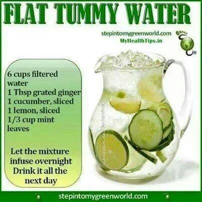 Flat tummy water.