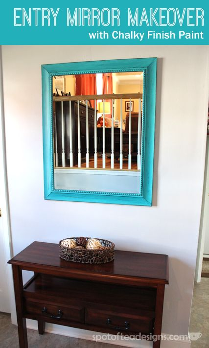 Entry Mirror Makeover with @DecoArt American Home Decor Chalky Finish Paint…
