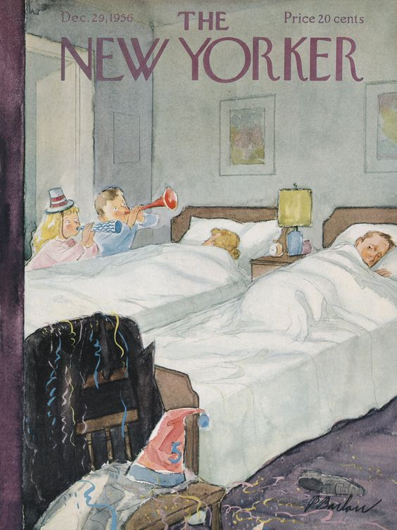 The New Yorker - Saturday, December 29, 1956 - Issue # 1663 - Vol. 32 - N° 45 - Cover by : Perry Barlow