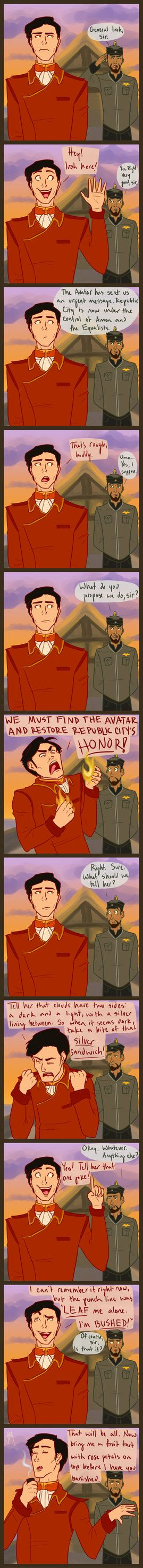 "How Iroh's introduction in ""The Legend of Korra"" should have gone. <----This would have been amazing"