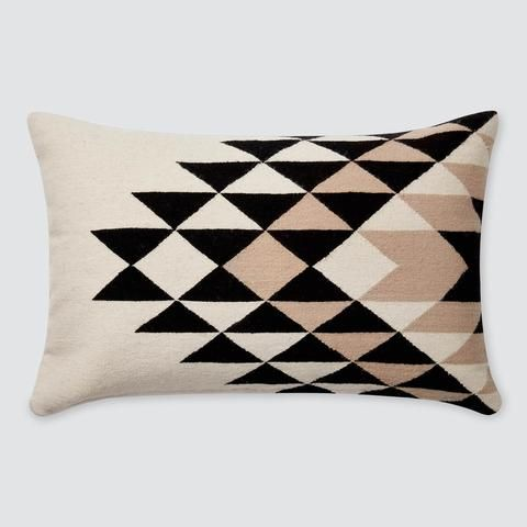 Modern Throw Pillows Black White Handmade In Peru The Citizenry Black And Cream Living Room Modern Throw Pillows Decorative Lumbar Pillows