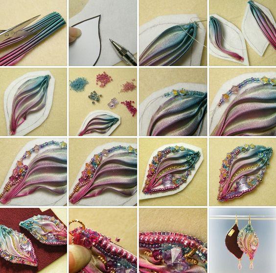 как сделать сережки с шибори