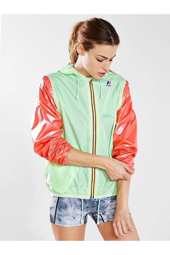 K-Way Claudette Klassic Baseball Windbreaker Jacket - Urban Outfitters
