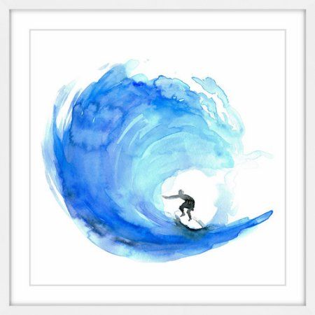 Most Popular Wave Framed Painting Print, Size: 48 inch x 48 inch, Multicolor
