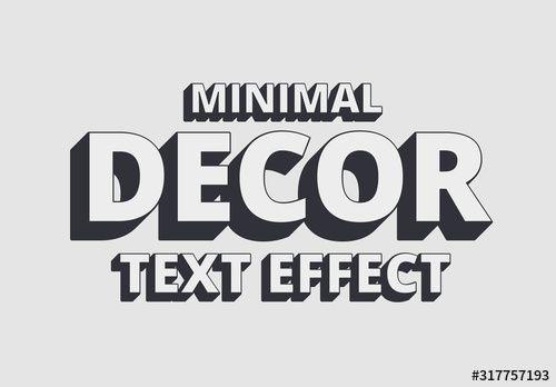 Minimal Decor Shadow Text Effect Mockup Text Effects Social Media Design Graphics Minimal Decor