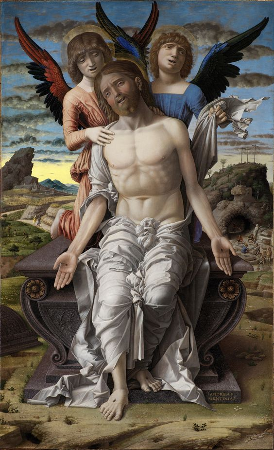 """""""Christ as the Suffering Redeemer"""" by Andrea Mantegna, 1495-1500"""