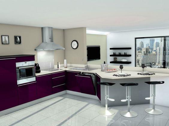 Cuisine equipee cuisine equipees - Exemple de cuisine en u ...