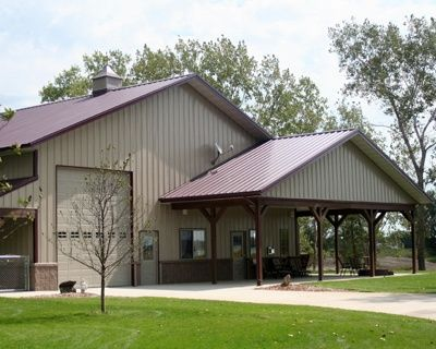 david's 42 x 60 metal building home w/ side porches (hq pictures