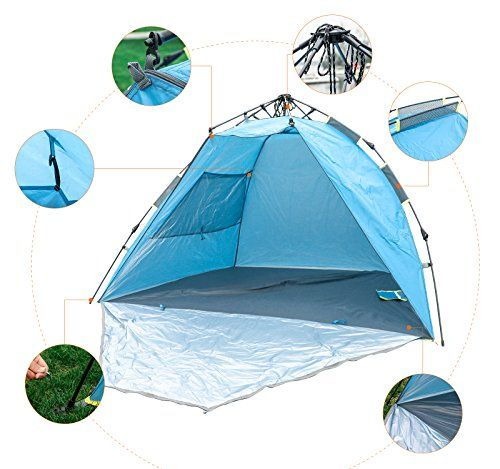Lafaz 23 Person Automatic Instant Easy Setup Beach Tent Cabana Anti Uv Sun Shelter Lightweight Canopy Want To Know More Beach Tent Tent Family Tent Camping