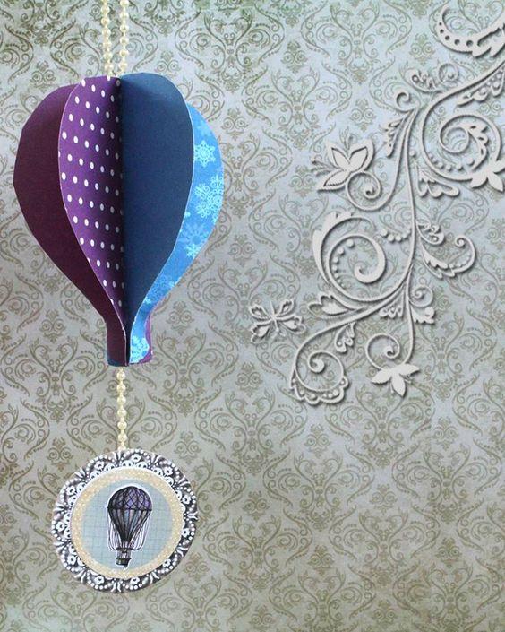 Inovar sempre.. Tag balão vintage ♥